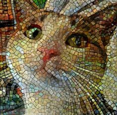 Challenge yourself with this MOSAIC CAT FACE jigsaw puzzle for free. Mosaic Glass, Mosaic Tiles, Glass Art, Stained Glass, Mosaic Crafts, Mosaic Projects, Mosaic Designs, Mosaic Patterns, Art Pierre