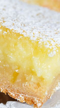 Easy Cake Mix Lemon Bars.