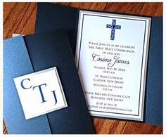 Boy BaptismCommunion Gate Fold Invitation by atouchofsunshine1, $6.50