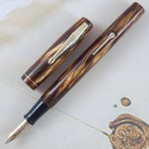 Caneta Tinteiro Watermans Skywriter - Gold Brown Marble