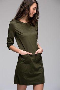 NUBUK ELBİSE www.fashionturca.com