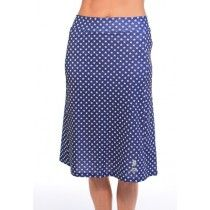 "midnight print ""spirit"" below knee modest athletic skirt"