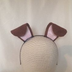 Puppy Dog Ears stand up birthday party favors headband hat snap filter Halloween costume Brown and pink adult children Baby Newborn Kid - Pet Costum ideas Dog Ears Headband, Ear Headbands, Farm Birthday, Birthday Party Favors, Puppy Birthday, Diy Dog Costumes, Halloween Costumes, Costume Ideas, Halloween 2017