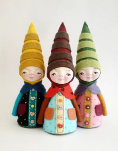 Gnome soft sculpture elf art doll collectable doll by yalipaz on Etsy