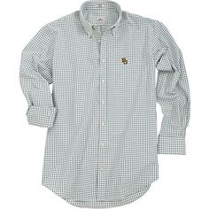 Classic Baylor men's woven shirt with embroidered BU