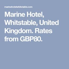 Marine Hotel, Whitstable, United Kingdom. Rates from GBP80.