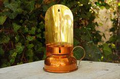 Vintage 70s Copper & Brass Candlestick Holder/ by SycamoreVintage