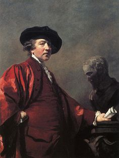 """Sir Joshua Reynolds was one of the most important and influential of 18th century English painters, specializing in portraits and promoting the """"Grand Style"""" in painting which depended on idealization of the imperfect. He was one of the founders and first President of the Royal Academy. George III appreciated his merits and knighted him in 1769."""