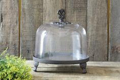 Round x Decorative Cast Iron Tray w/ Glass Cloche. Cast Iron, It Cast, Creative Co Op, Butter Dish, Tray, Glass, Collection, Home, Decor