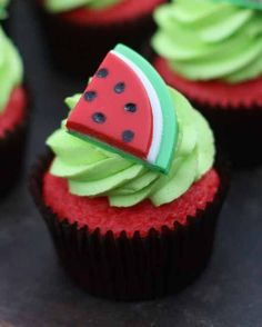 How to Make Watermelon Cupcake Toppers