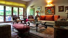 Aradhana Anand's Bold and Eclectic New Delhi Home | Pinned by The Tiger's Armoire Luxury Goods for Adorning Home and Body www.facebook.com/TheTigersArmoire http://monsoondreamer.blogspot.com
