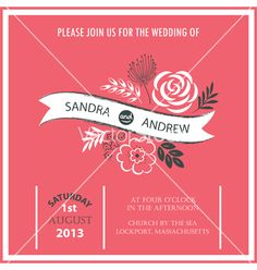 Wedding invitation or announcement vector - by ARNICA on VectorStock®