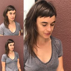 Pin on Hair and beauty Pin on Hair and beauty Hairstyles With Bangs, Cool Hairstyles, Medium Hair Styles, Short Hair Styles, Short Bangs, Hair Today, Hair Dos, Her Hair, Hair Inspiration