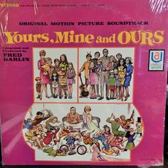 """YOURS MINE AND OURS 12"""" VINYL LP MINT ORIGINAL SOUNDTRACK (1968 MUSIC BY FRED KARLIN) LUCILLE BALL"""