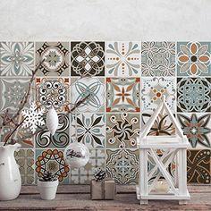 Vintage Decors Pvc Tiles For Bathroom And Kitchen Ceramic Decorations Various Sizes