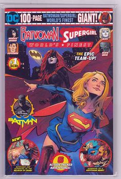 Batwoman Supergirl Worlds Finest Giant (DC, NM Marvel Comics - Anime Characters Epic fails and comic Marvel Univerce Characters image ideas tips Free Comic Books, Comic Book Covers, Batwoman, Supergirl, Star Labs, Free Comics, Pokemon Cosplay, Dark Horse, Various Artists