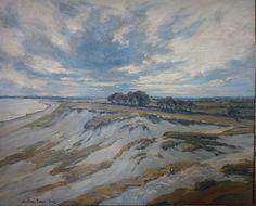 """André Dauchez (1870-1948) ~ """"Les Dunes, Ile Tudy"""", Finistère-Bretagne"""