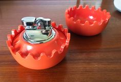 RARE Alan Fletcher Clam Ashtrays and Lighter by CaribeCasualShop