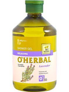 Poze O'Herbal. Gel de dus relaxant cu extract de lavanda. Lavandula Angustifolia, Shower Gel, Body Care, Cleanse, Lotion, Herbalism, Lotions, Bath And Body, Cream