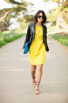 Yellow and leather