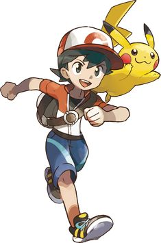 Pokemon Let's Go Pikachu Male Trainer. Pikachu Pikachu, Pokemon Kanto, Pikachu Kunst, My Pokemon, Pokemon Stuff, Pokemon Go Red Team, Pokemon Go Team Mystic, Pokemon Trainer Red, Pokemon Fan Art