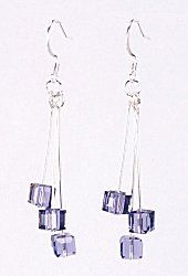 Jewelry Making Idea: Tanzanite Drop Earrings (eebeads.com)