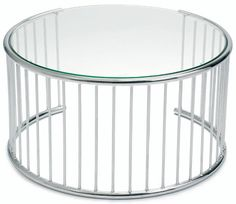 Stainless steel cyclone coffee table