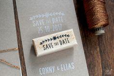 Hochzeitskarten - STEMPEL Save the Date - ein Designerstück von Frl_Rotfux bei DaWanda
