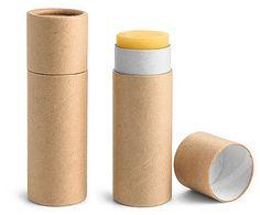 0.3 oz Brown Paperboard Push Up Lip Balm Tubes