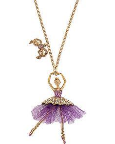 TERRIFIC TUTU BALLERINA PENDANT PURPLE accessories jewelry necklaces fashion