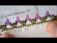 GÜZEL TIĞ OYASI MODELİ #tığoyası #tığoyasıyapılışı #lace #embroidery - YouTube Crochet Edging Patterns, Crochet Lace Edging, Crochet Borders, Crochet Chart, Crochet Flowers, Crochet Baby, Crochet Shell Stitch, Crochet Flower Tutorial, Tatting Lace