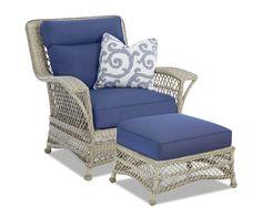 Klaussner Outdoor Outdoor/Patio Willow Chair W1200 C - Klaussner Outdoor - Asheboro, NC