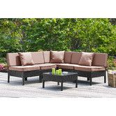 Found it at AllModern - Naples 6 Piece Deep Seating Group with Cushions