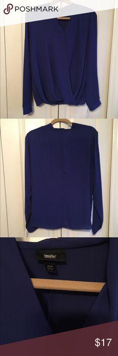Mossimo Women's Blue Blouse XL NWT NWT Mossimo Blouse XL Mossimo Supply Co Tops Blouses