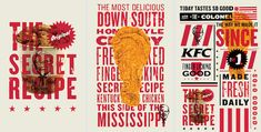Since joining FCB I've been fortunate enough to work on a multitude of different projects for KFC. One of the most rewarding initiatives was the constant effort to push KFC's branding into a more contemporary landscape. The goal was always simple. Kfc, Chicken Brands, Chicken Shop, Advertisement Examples, Restaurant Advertising, Food Advertising, Branding Design, Logo Design, Print Design