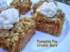 Flavors by Four: Pumpkin Pie Crumb Bars