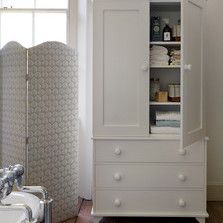 Essential storage with a clean design. Bathroom - Painted Furniture - The Dormy House #thedormyhouse