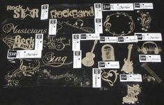 Chipboard  MUSIC  Embellishments Band/School (You choose design) *NEW* SCRAP FX