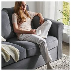GRÖNLID Sofa, with chaise/Ljungen medium gray. Snuggle up, feel warmly embraced and enjoy cozy nights and lazy days. This sofa is extra deep, has soft and moveable back cushions, and comes in various sizes and shapes – everything for your comfort. Convertible 2 Places, Deep Seat Cushions, Polypropylene Plastic, Wood Crosses, Large Sofa, Corner Sofa, Fabric Sofa, Keep It Cleaner, Love Seat