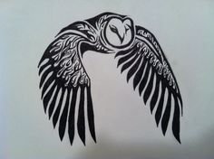 Tribal Owl Tattoo by raucousravens on deviantart