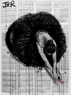 """Saatchi Online Artist: Loui Jover; Ink 2014 Drawing """"prima ballerina"""""""