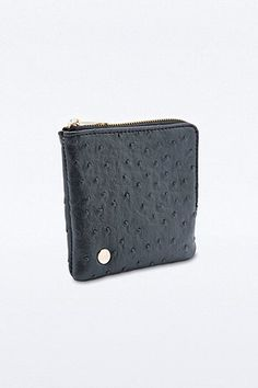 Mi-Pac Ostrich Coin Holder in Black - Urban Outfitters