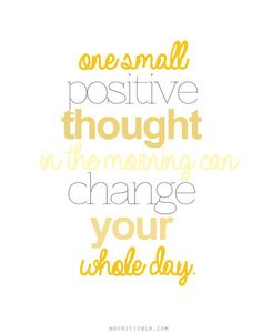PlatinumCars.ca Quote of the Day! ⭐ One small positive thought in the morning can change your whole day