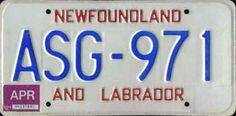 Newfoundland plain text series (1982-1994) Licence Plates, Newfoundland, Labrador, Canada, God, Humor, Dios, License Plates, Humour