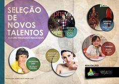 Divulgação de seletiva - Vision Cast by Lucas Percegona, via Behance