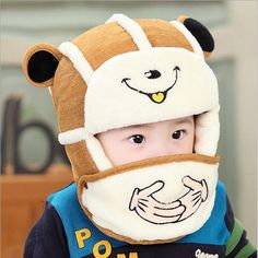 >> Click to Buy << 2016 hot sale Baby Winter Hat Set with Mask Neck Warmer cute Bear Cap for Boys Girls Kids Children thick velvet warm snow cap #Affiliate