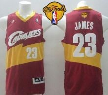 Cavaliers #23 LeBron James Red The Finals Patch Stitched Revolution 30 NBA Jersey