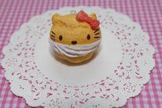 Kawaii Squishy Hello Kitty puff cake Charm by Gitanaflipflops, $6.00