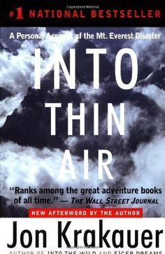 Into Thin Air is a riveting first-hand account of a catastrophic expedition up Mount Everest. In March 1996, Outside magazine sent veteran journalist and seasoned climber Jon Krakauer on an expedition led by celebrated Everest guide Rob Hall. Despite the expertise of Hall and the other leaders, by the end of summit day eight people were dead.