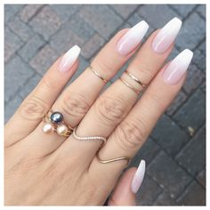 french fade with bare and white ombre acrylic nails coffin nails - page 17 . - hairstyles women - french fade with bare and white ombre acrylic nails coffin nails – page 17 … – - Coffin Nails Ombre, Gold Nails, Fun Nails, Gold Glitter, Glitter Nails, Matte Gold, Gold Gold, Faded Nails, White Acrylic Nails With Glitter